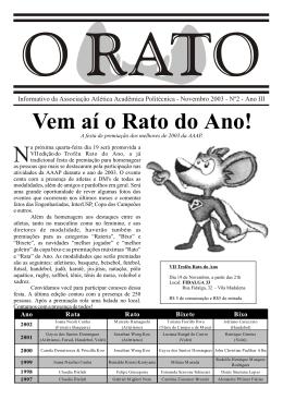Vem aí o Rato do Ano! N - Associação Atlética Acadêmica Politécnica