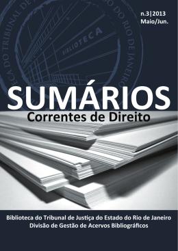 n.3|2013 Maio/Jun. - Portal de Aplicações do Tribunal de Justiça do