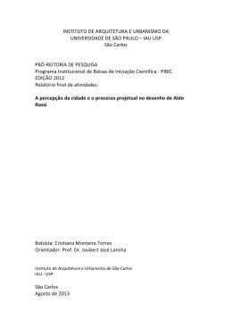 cristiana-torres - Instituto de Arquitetura e Urbanismo