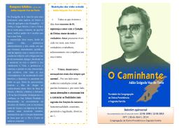 Boletim o Caminhante Nº 7 - Congregação da Divina Providência e