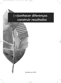 (Re)conhecer diferenças: construir resultados