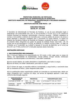 prefeitura municipal de fortaleza secretaria de administração do