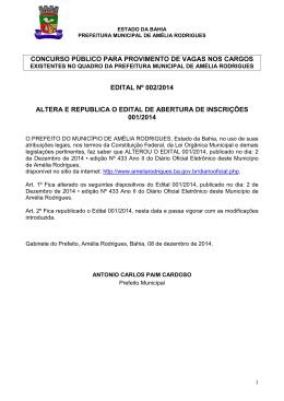 EDITAL 002 ALTERA E RETICA EDITAL 001