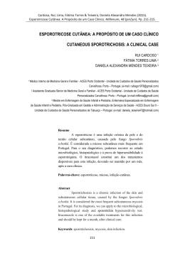 esporotricose cutânea: a propósito de um caso clínico cutaneous