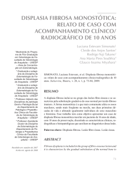 DISPLASIA FIBROSA MONOSTÓTICA: RELATO DE CASO