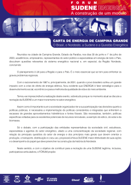 CARTA DE ENERGIA DE CAMPINA GRANDE