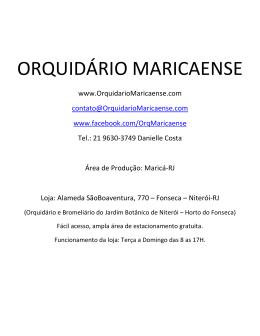ORQUIDÁRIO MARICAENSE