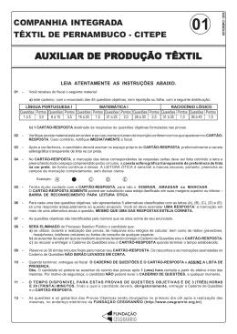 prova 01 - auxiliar de produção têxtil