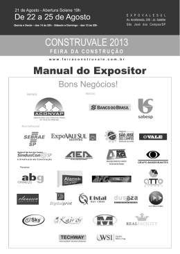 MANUAL DO EXPOSITOR 2013 Final