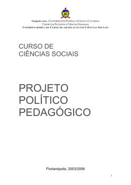 Projeto Pedagógico UFSC