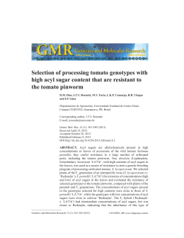 Selection of processing tomato genotypes with high acyl - Funpec-rp