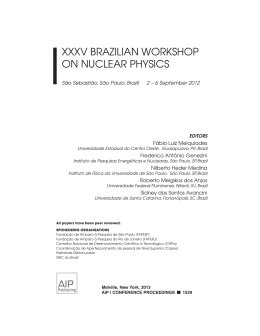 xxxv brazilian workshop on nuclear physics
