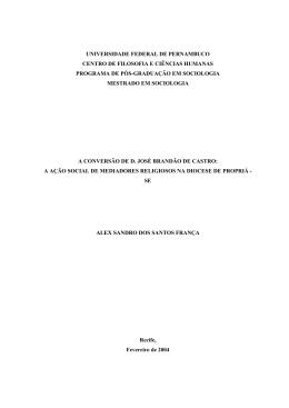 A conversão de D. José Brandão de Castro