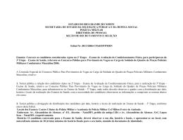 Edital n.13 Convocados para Exame de Saúde