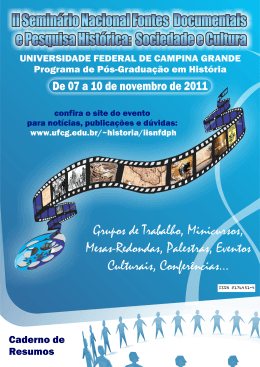 Caderno de Resumos - Universidade Federal de Campina Grande