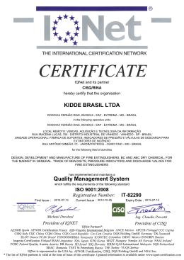 KIDDE BRASIL LTDA Quality Management System