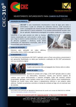 CKC DO BRASIL LTDA - CKC ® Proteção Passiva Contra o Fogo