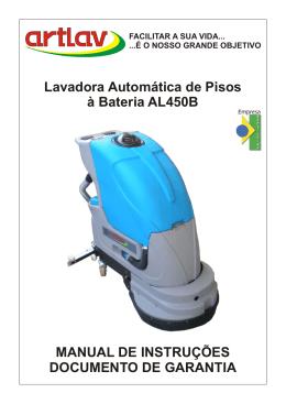 Manual Artlav - 450 B - Para limpeza profissional, conte com as