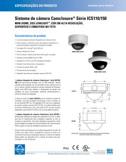 Sistema de câmera Camclosure® Série ICS110/150