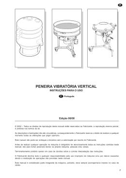 PENEIRA VIBRATÓRIA VERTICAL
