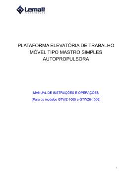 Manual de Instruções serie 10Z