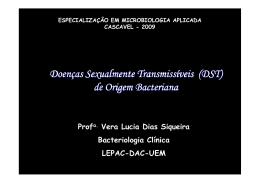 (DST) de Origem Bacteriana