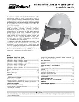 Respirador de Linha de Ar Série GenVXTM Manual do Usuário