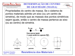DETERMINAÇÃO DE CENTRO DE GRAVIDADE (MASSA