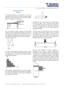 Exercícios de Física Estática