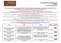 Programa de Apresentação - Poster