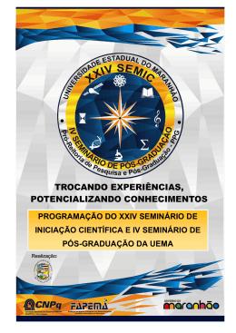 programação do xxiv seminário de iniciação científica e iv seminário