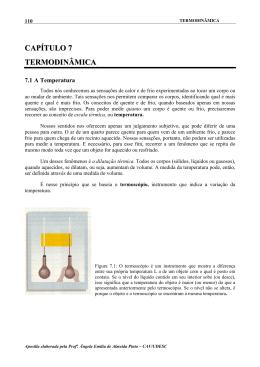 CAPÍTULO 7 TERMODINÂMICA - CAV