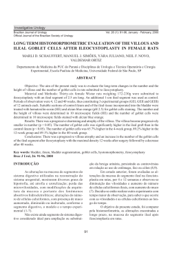 long term histomorphometric evaluation of the villous and ileal