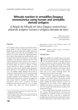 Mitsuda reaction in armadillos Dasypus novemcinctus using human