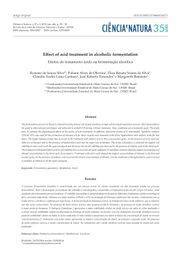 Effect of acid treatment in alcoholic fermentation