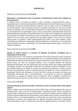 RESUMOS 2015 Adalberto Luiz Rizzo de Oliveira (UFMA