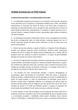 Unidade Socialista por um PSOL Popular(APS/Fortalecer)