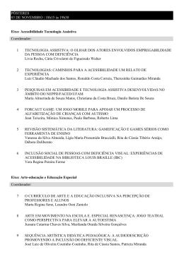 1 TECNOLOGIA ASSISTIVA - VI Congresso Brasileiro de Educação