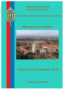 Manual do Candidato Concurso de Admissão 2015