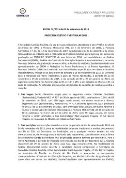 FACULDADE CATÓLICA PAULISTA DIRETOR GERAL