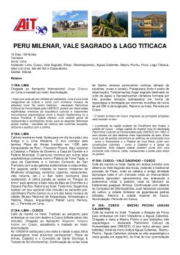 PERU MILENAR, VALE SAGRADO & LAGO TITICACA