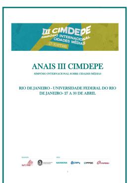 Anais III CIMDEPE- Eixo 3-4