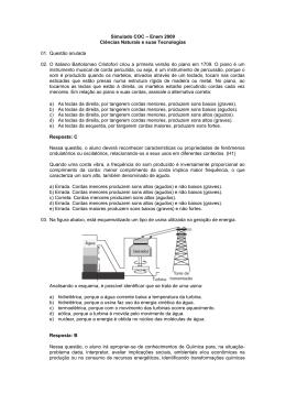 Simulado COC – Enem 2009 Ciências Naturais e suas