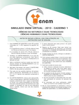 simulado enem virtual - 2013 - caderno 1 - colégio atenas