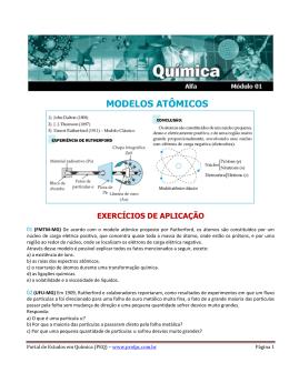 MODELOS ATÔMICOS - Portal de Estudos em Química