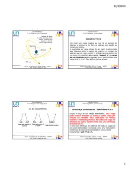 Átomo, Carga elétrica, Leis das Cargas, D.D.P e Corrente