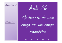 Aula 26 - Movimento de uma partícula