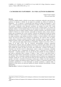 CACHOEIRO DE ITAPEMIRIM – ES: PARA ALÉM DO BAIRRISMO
