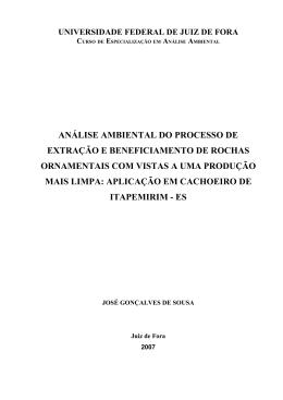 análise ambiental do processo de extração e beneficiamento