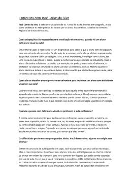 Leia entrevista com José Carlos da Silva